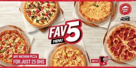 pizzahut medium pizza for aed 25